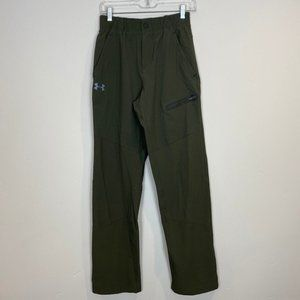 Olive Green Nylon Hiking Pants Womens Tall Small